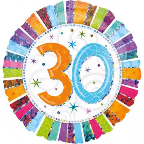 Happy Birthday 30 fólia lufi 45 cm