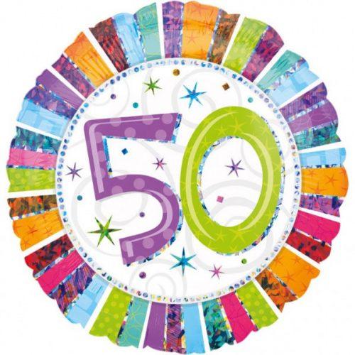 Happy Birthday 50 fólia lufi 45 cm