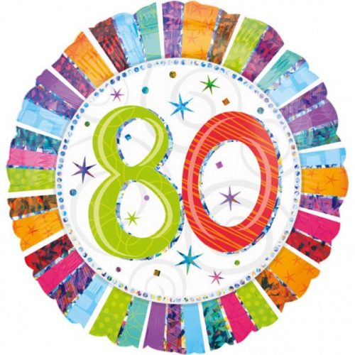 Happy Birthday 80 fólia lufi 45 cm