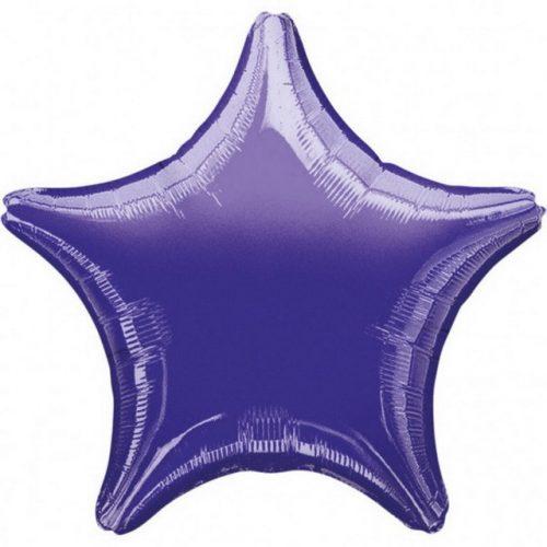 Metallic Star, Lila Csillag Mini fólia lufi