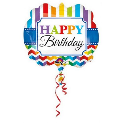 Happy Birthday Fólia lufi 63 cm