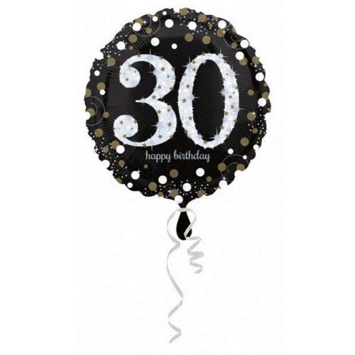 Happy Birthday 30 fólia lufi 43 cm