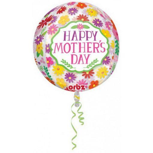 Happy mother's day, Boldog anyák napját Gömb fólia lufi