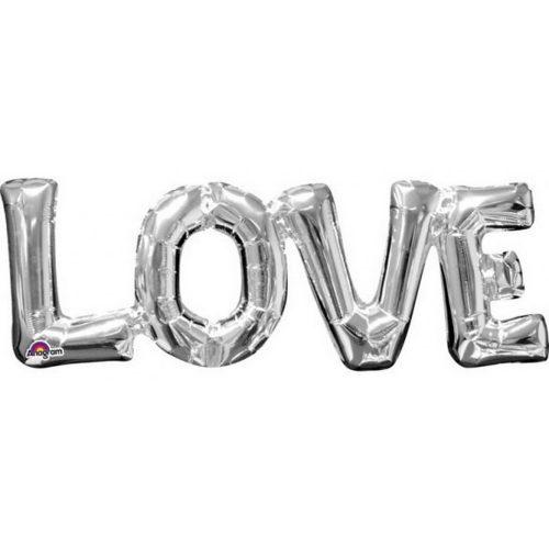 Love Fólia lufi Silver 63*22 cm