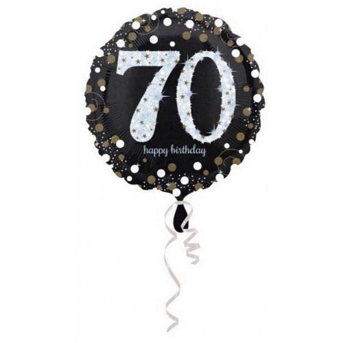Happy Birthday 70 fólia lufi 45 cm