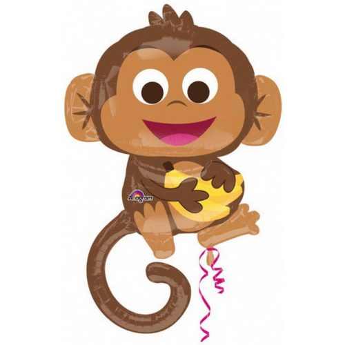 Happy Monkey fólia lufi 91 cm