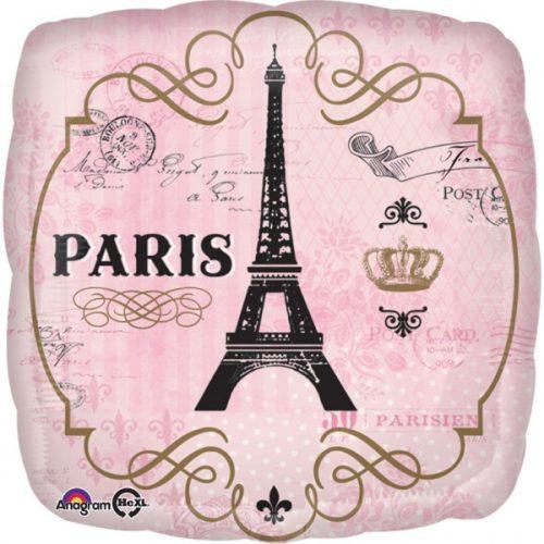 Paris, Párizs Fólia lufi 43 cm