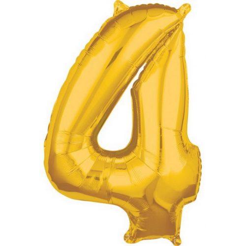 Gold, Arany 4-es szám fólia lufi 66*45 cm
