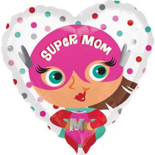 Super mom, Szuper anya Fólia lufi 43 cm