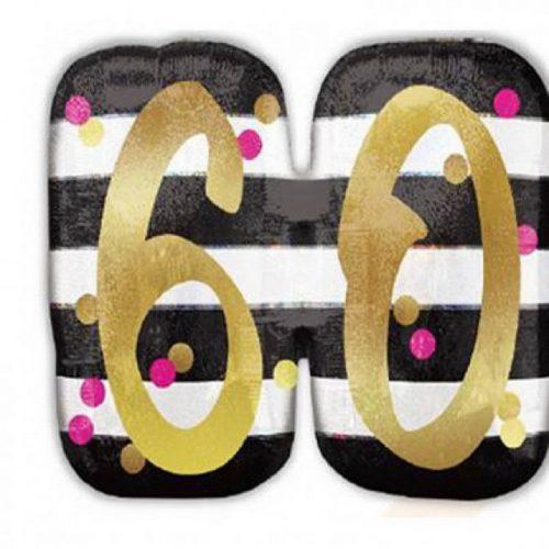 Happy Birthday 60 Fólia lufi 63 cm