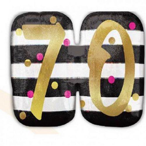 Happy Birthday 70 Fólia lufi 63 cm