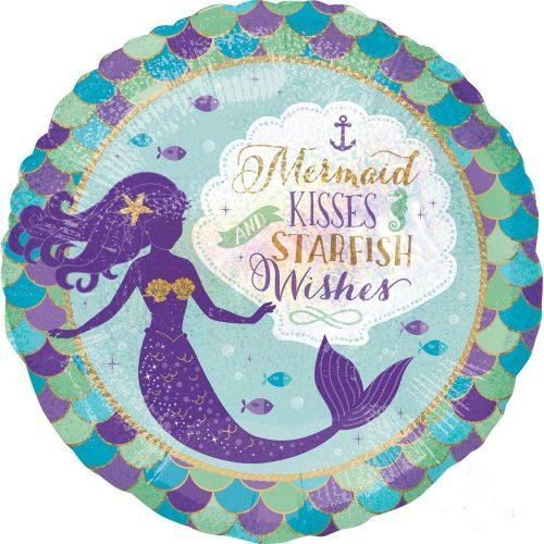 Mermaid, Sellő Fólia lufi 45 cm