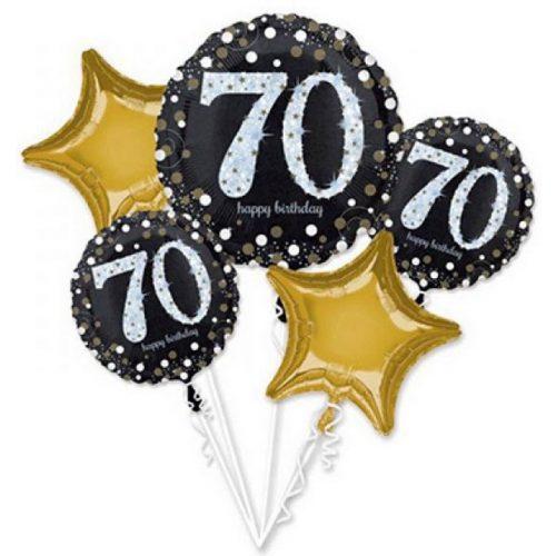 Happy Birthday 70 Fólia lufi 5 db-os szett