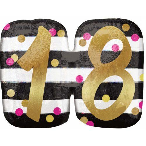 Happy Birthday 18 Fólia lufi 63 cm