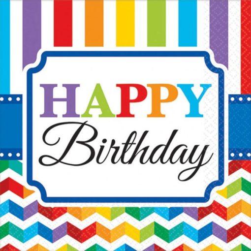 Happy Birthday szalvéta 16 db-os, 24,7*24,7 cm