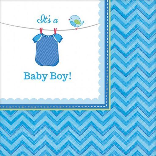 Baby Boy szalvéta 16 db-os, 24,7*24,7 cm