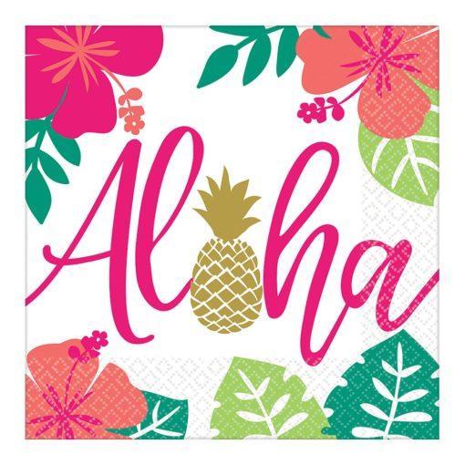Aloha szalvéta 16 db-os, 33*33 cm