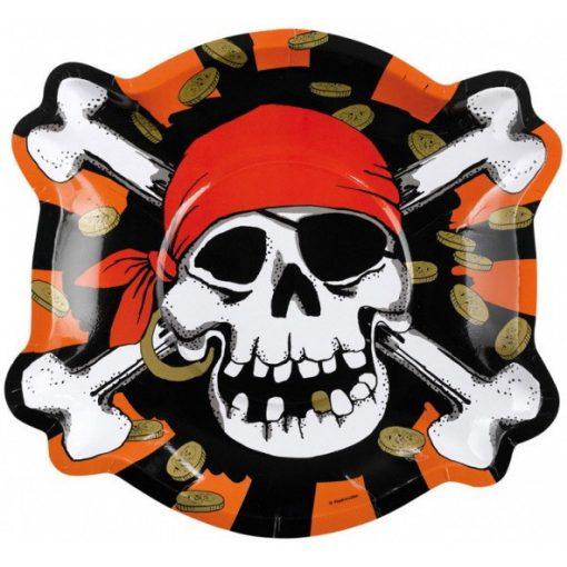 Pirate, Kalóz Papírtányér 6 db-os 23 cm