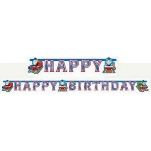 Thomas and Friends Happy Birthday felirat 180 cm