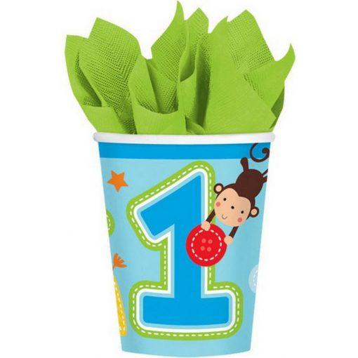 Első születésnap Papír pohár 8 db-os 266 ml
