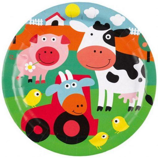 Farm Papírtányér 8 db-os 23 cm