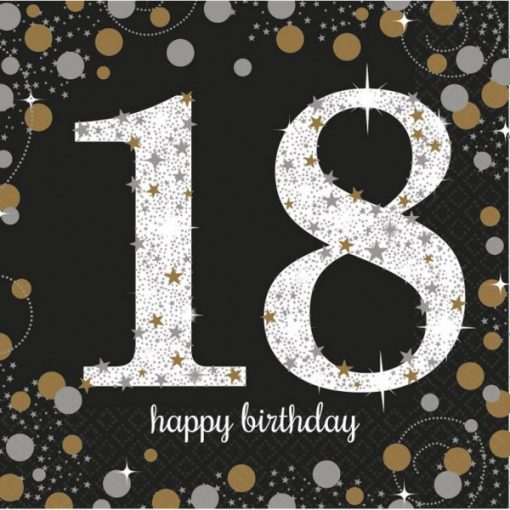 Happy Birthday 18 szalvéta 16 db-os 33*33 cm