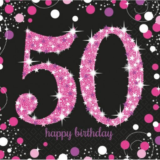 Happy Birthday 50 szalvéta 16 db-os 33*33 cm