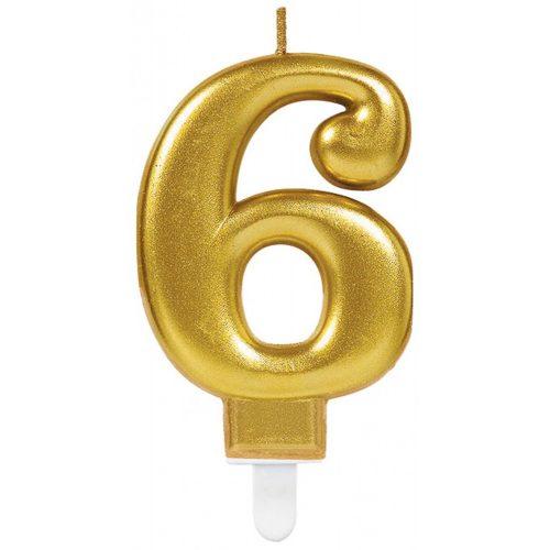 Gold, Arany számgyertya 6-os tortagyertya