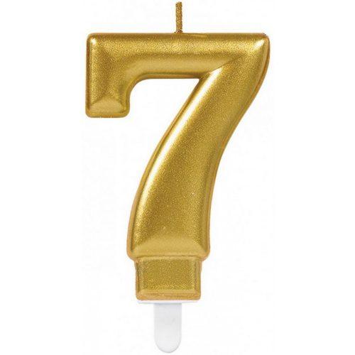 Gold számgyertya 7-es tortagyertya