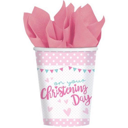 Christening, Keresztelő papír pohár 8 db-os 266 ml