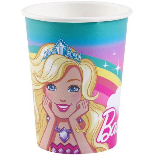 Barbie papír pohár 8 db-os 250 ml