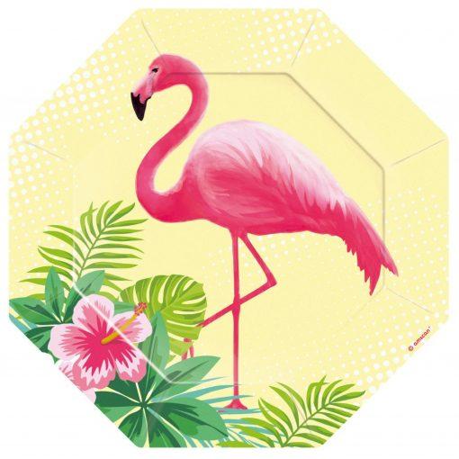Flamingó Papírtányér 6 db-os 18 cm
