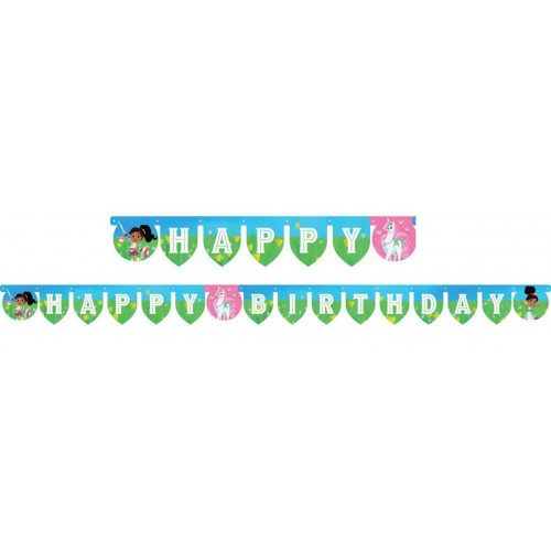 Nella, a hercegnő lovag Happy Birthday felirat