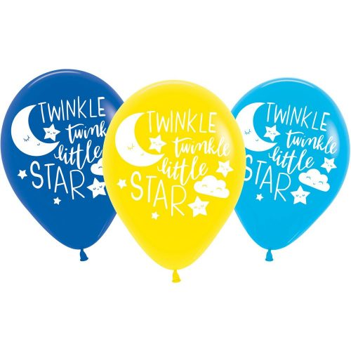 Twinkle, twinkle, little star léggömb, lufi 6 db-os