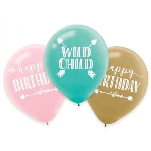 Happy Birthday léggömb, lufi 6 db-os