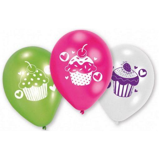 Cupcake, Muffin léggömb, lufi 6 db-os
