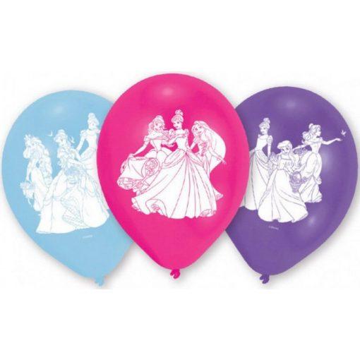 Disney Hercegnők léggömb, lufi 6 db-os