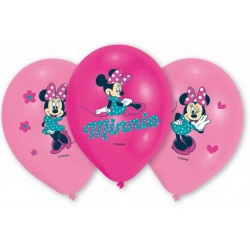 Disney Minnie léggömb, lufi 6 db-os