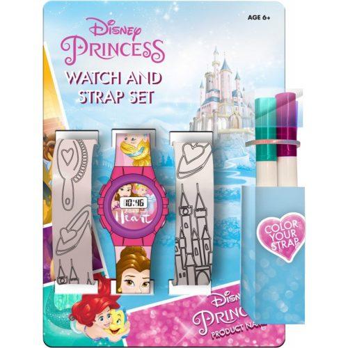 Disney Hercegnők digitális karóra + színezhető óraszíj szett