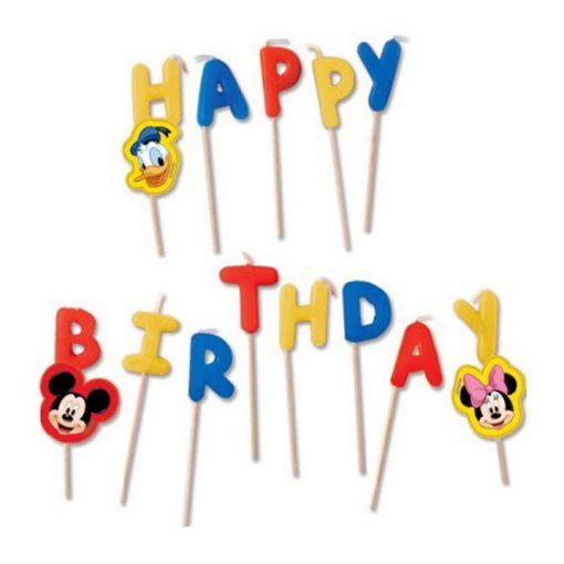 Disney Mickey Happy Birthday gyertya