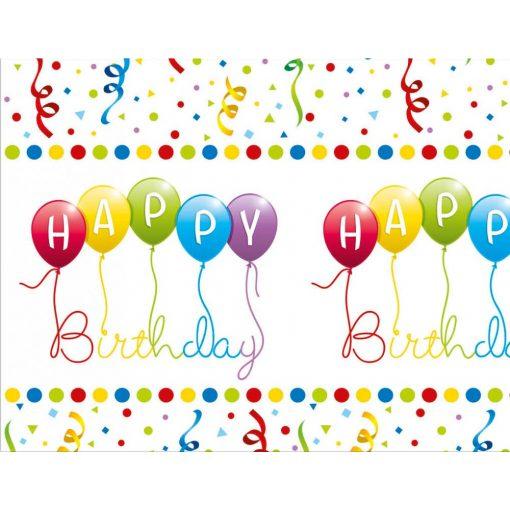 Happy Birthday Streamers Asztalterítő 120*180 cm