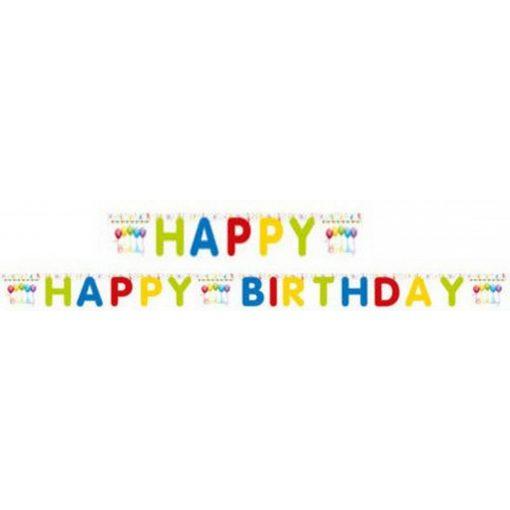 Happy Birthday Streamers felirat 200 cm
