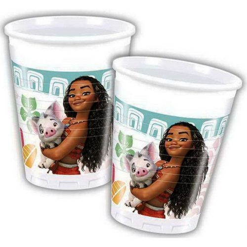 Disney Vaiana, Moana Műanyag pohár 8 db-os 200 ml