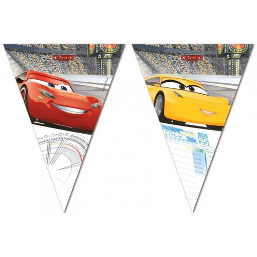 Disney Cars 3, Verdák zászlófüzér 2,3 m