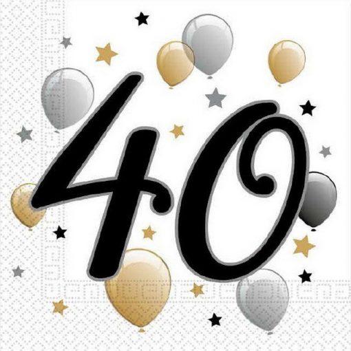 Milestone, Happy Birthday 40 szalvéta 20 db-os