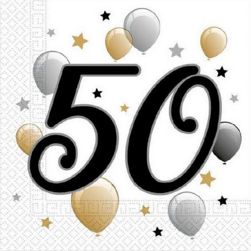 Milestone, Happy Birthday 50 szalvéta 20 db-os