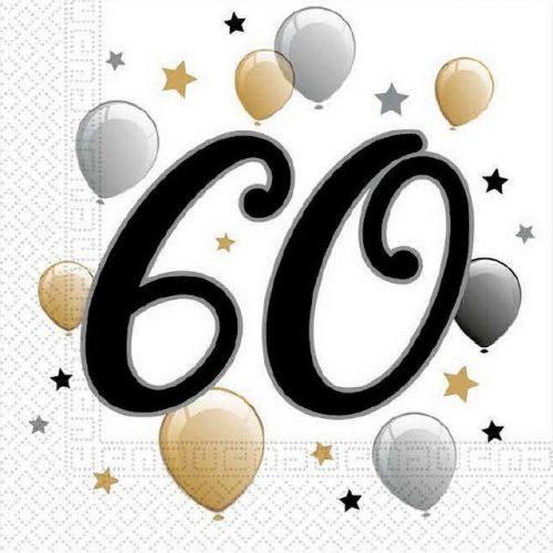 Milestone, Happy Birthday 60 szalvéta 20 db-os