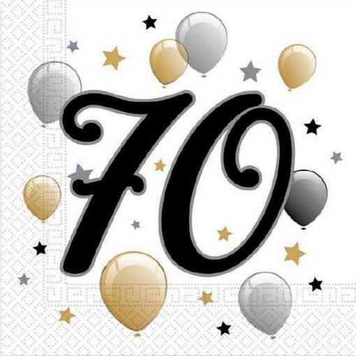 Milestone, Happy Birthday 70 szalvéta 20 db-os