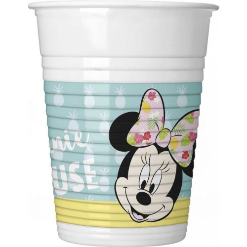 Disney Minnie Tropical Műanyag pohár 8 db-os 200 ml