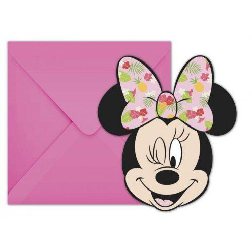 Disney Minnie Tropical Party Meghívó 6 db-os